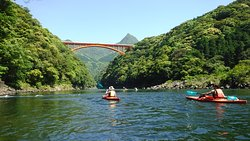 Kayaking to the river!! Half day ¥8.000-/person.