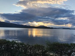 Early morning sunrise over Loch Lomond
