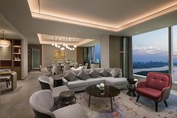 洲际超豪华套房客厅