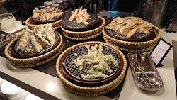 夕食ビュッフェ(天ぷら)