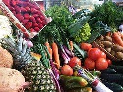 Presentación de verduras.