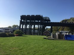 View of the boat lift
