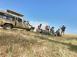 Breakfast in Masai Mara