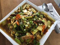 Stir fried seasonal veggies