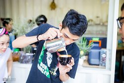 a young passionate barista.