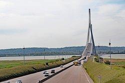 Brücke über die Seine zwischen Le Havre und Honfleur