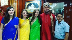"""""""We wanted to go to the taj mahal wearing indian dresses. The people from Anil Handicrafts helpe"""