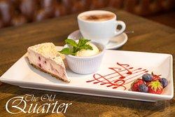 White Chocolate and Raspberry Cheese Cake