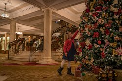 Christmas Time In The Hotel Lobby