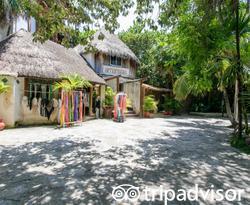 Entrance at the Amansala Eco-Chic Resort + Retreat