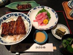 うな丼/鯉のあらい/肝焼き