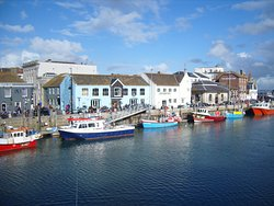 Both sides of Weymouth's Lower Harbour are lined with pubs, clubs, bars and restaurants