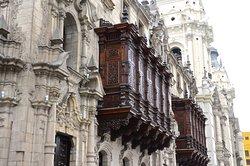 Spanish wood balconies