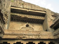 The richly decorated facade of Cave 10