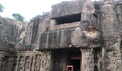 Entrance of the magnificent KailashaTemple (Cave 16)