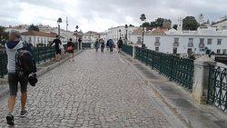 View across Ponte antigo of Rio Gilão (Roman Bridge)