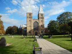 A beautiful day and the perfect sky to frame The Minster