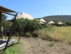 Row of Tents Overlooking Mara