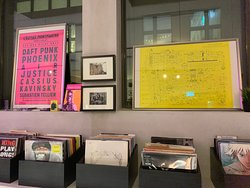 Some of the vinyl records on sale