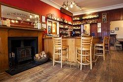 Cosy bar with log burner