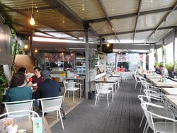 Pancoupe is a patio-style, open-air restaurant