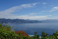A view of the Italian Riviera from Castello Brown