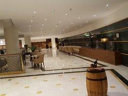 Espace de détente , hall de l'hôtel