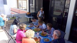 Share a wonderful meal after a great cooking class