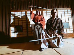 you can wear KIMONO and have a KATANA. It's time such a cool picture!!