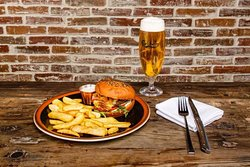 Offer every Monday burger and a beer 3500,-