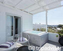 The Deluxe Room with Outdoor Jacuzzi at the Ostraco Suites