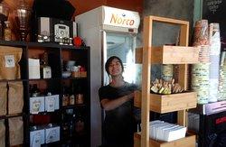 Kim at the second coffee machine