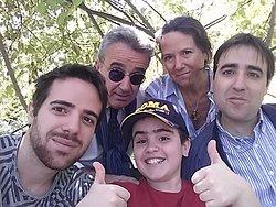 Da sinistra a destra: Niccolò, Io, Alberto, mia moglie Cristiana e Lucio.