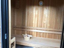 Vue intérieure du sauna