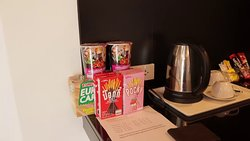 Snacks, Noodles, Coffee and Tea provided in the Studio Aparments
