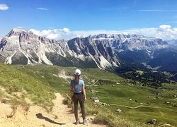 1 st day of our hike in the dolomites. On our way to the Col Raiser Hotel.