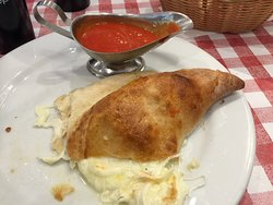 Cheese calzone was a real treat