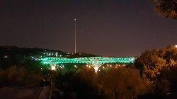 Tabiat Bridge by night