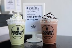 Chocolate Frappe and Green Tea Frappe
