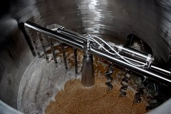 Here is our lauter tun which is a vessel for separating the wort from the solids of the mash.