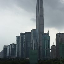 Ping An Finance Centre 'Free Sky 116' Observation Deck in Shenzhen China