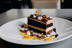 Scratch-made chocolate cake from the 100 Acres bakery