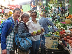 Shopping for ingredients at the local souk