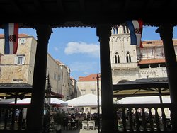 view from the loggia onto the main square