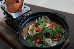 HOMI Speciality - Pipis in XO sauce w/ Deep Fried Baos