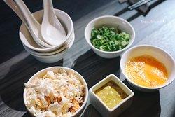 準備煮蟹肉粥