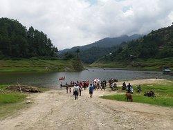 Indrasarovar people queing for boating