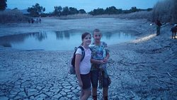 As they were still getting the lake pumped. Sad to see, but we still had some fun in the mud.
