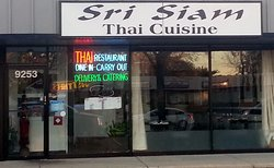 entrance to & front of Sri Siam
