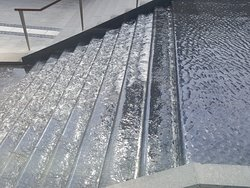 fountain on stairs